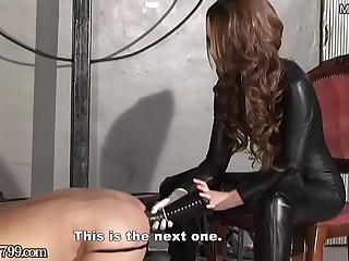 Japanese Femdom Deep Anal Horse Dildo be advantageous to Slave