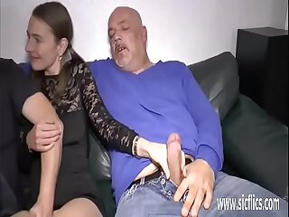 Double fisting and fucking her on one's uppers loose pussy