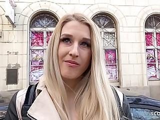 GERMAN SCOUT - Arschfick fuer blondes Teen fuer Geld bei ersten Porno Dreh