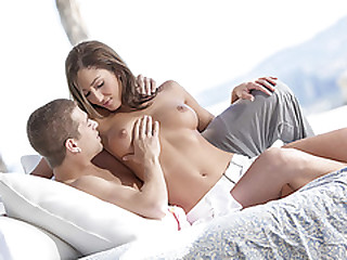 Hot couple Xander and Angelica make believe their akin to up to an incredible climax