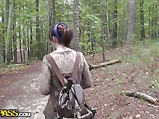 Fucked together with Cum shot his old hat modern in the forest