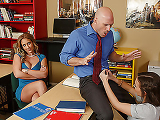 Teen added to stepmom worships school teachers chubby cock added to gets fucked
