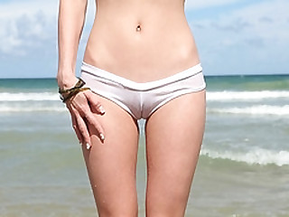 Anorexic girl picked up on the beach on a sunny day and fucked hard