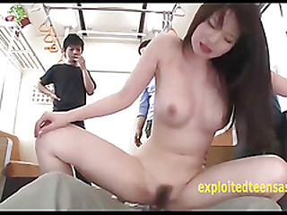 Video: Jav Teen Drift of With Mammoth Tits Gangbang On A Train Total Babe with the addition of Cumshot