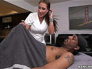 Massage Therapist Finds a Huge Black Dick
